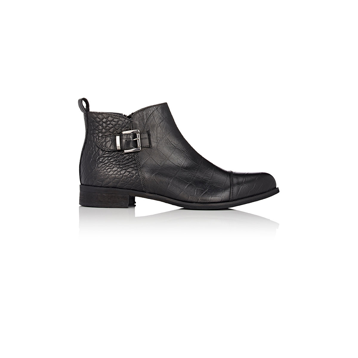 barneys new york buckle ankle boots in black lyst