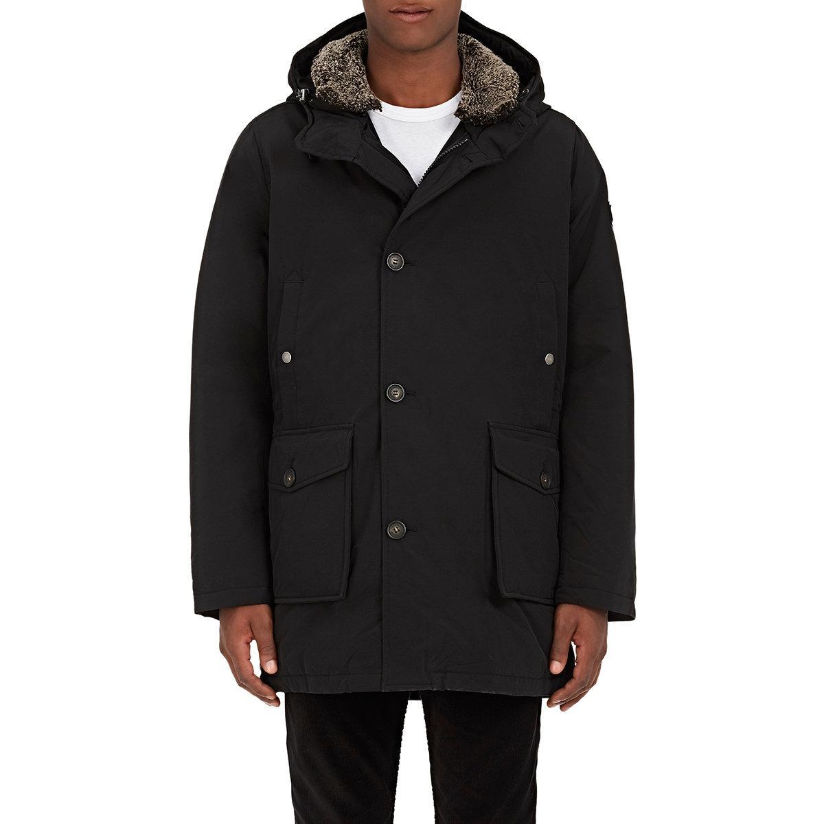 Woolrich Mackinaw Faille Down Parka In Black For Men Lyst