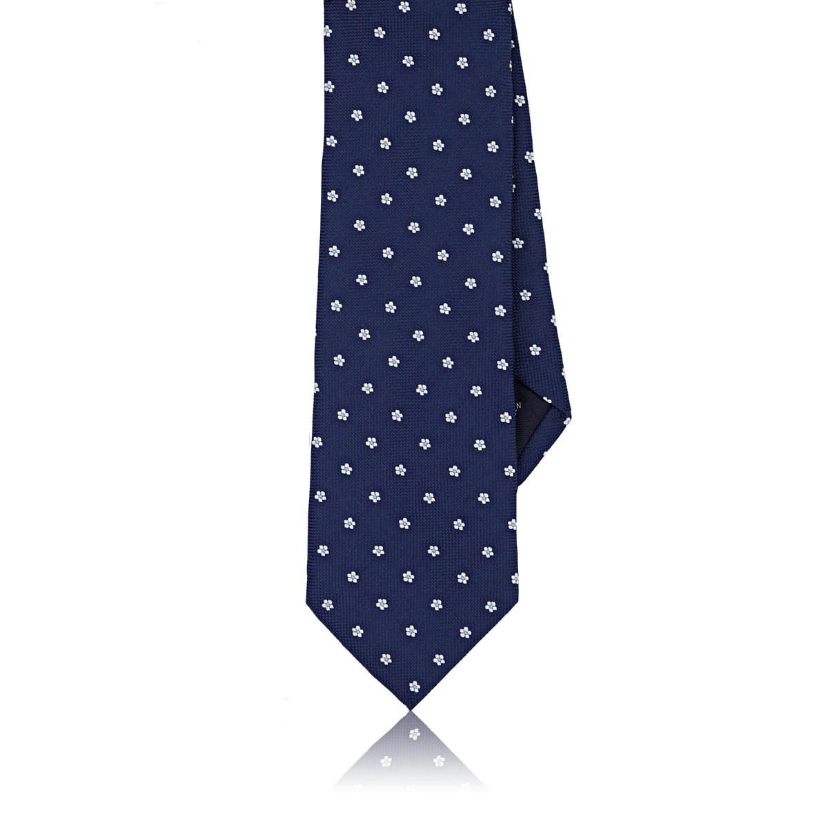 Mens Floral Textured Silk Necktie Paolo Albizzati VzwoGV8cqX