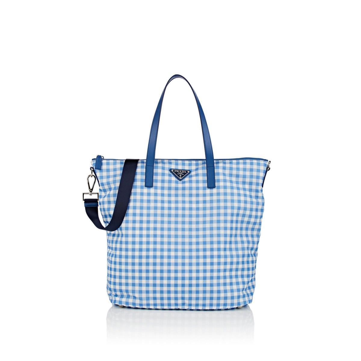 8de02b49d383 Prada Donna Lady Shopping Tote Bag in Blue - Lyst