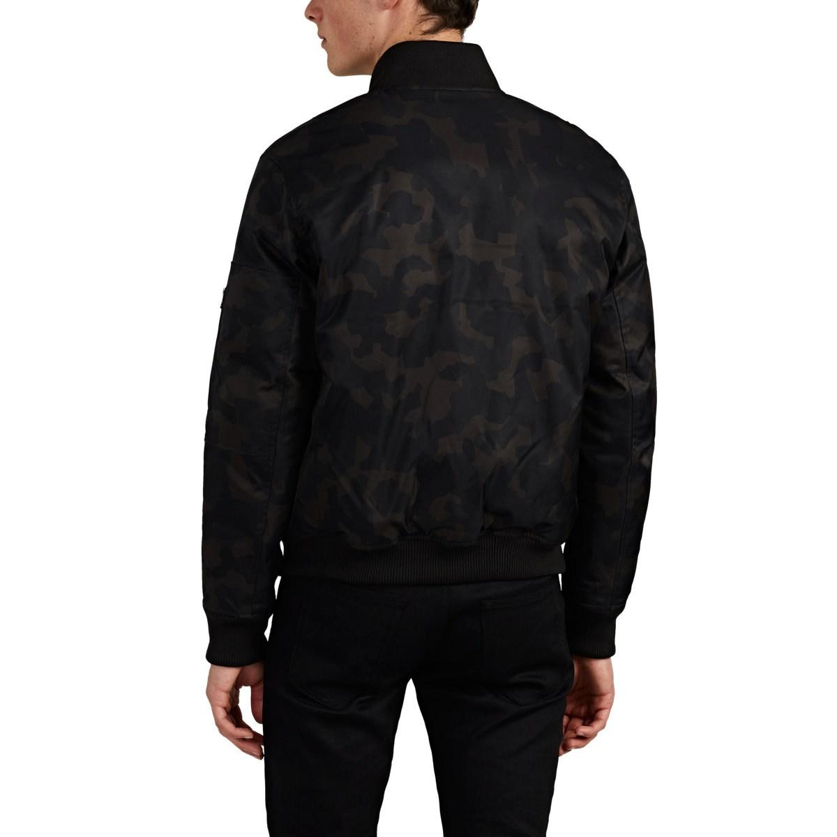 f683dbad7 Barneys New York Graphic-camouflage Tech-twill Bomber Jacket in ...