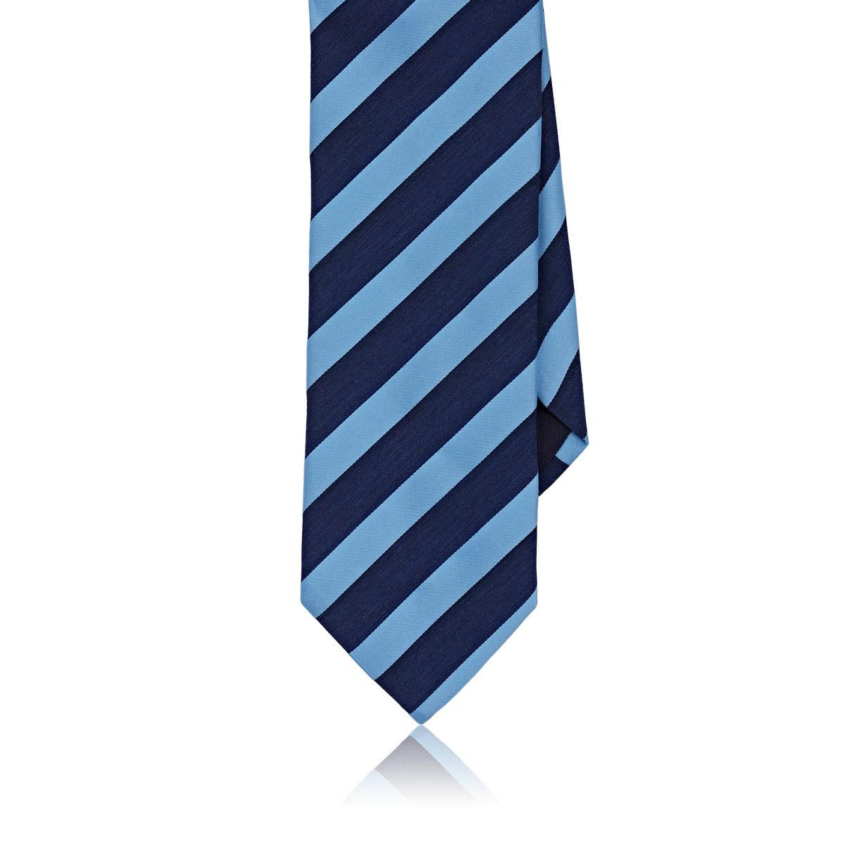 La Cravate Des Hommes Satin Et Chambray Rayé Barneys New York F96DNPsac