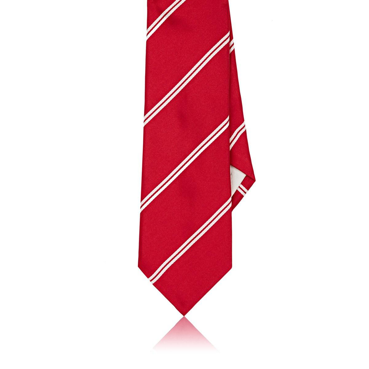 Mens Striped Silk Satin Necktie Paolo Albizzati Bbm8S