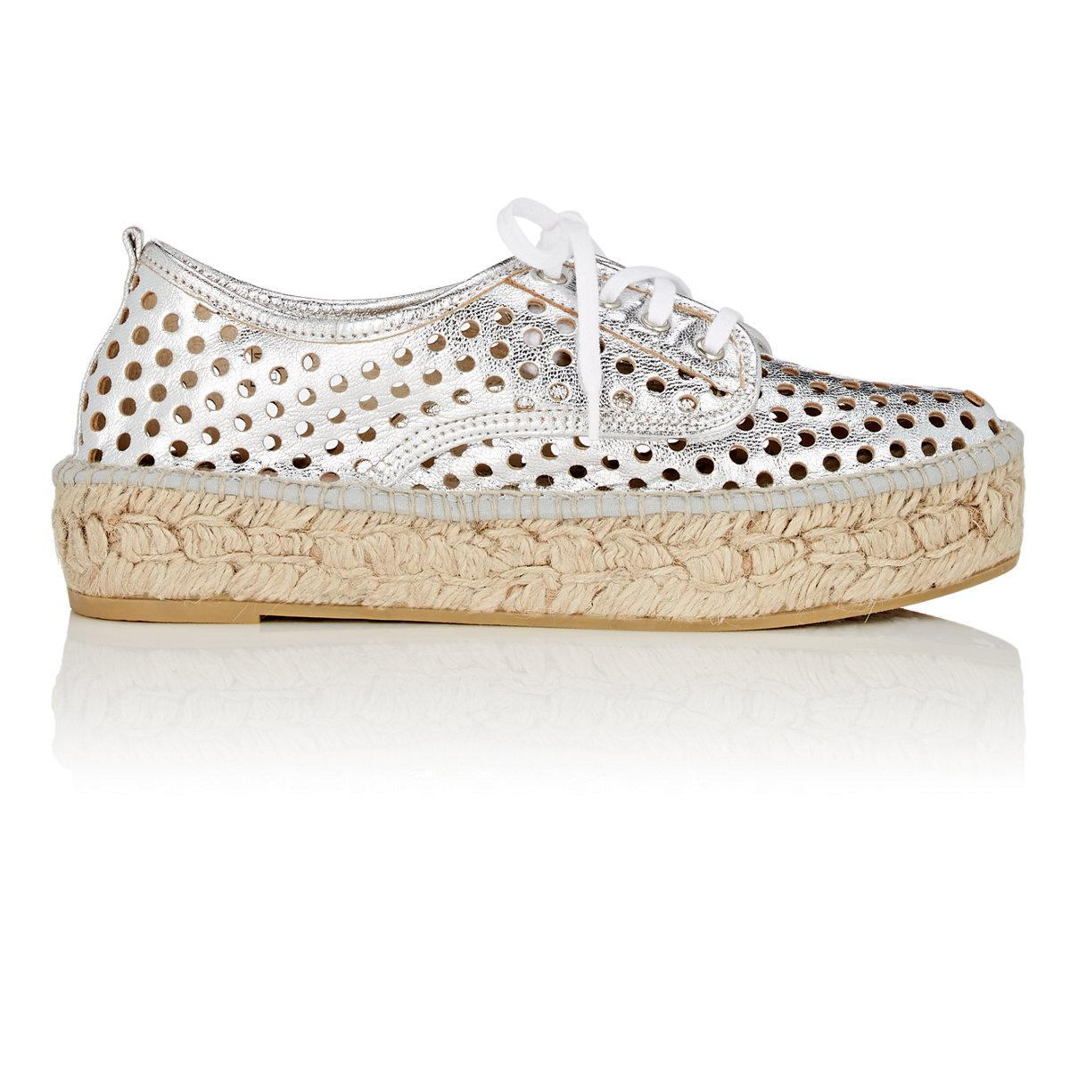 bf36f8860b2e Lyst - Loeffler Randall Alfie Perforated Leather Espadrille Sneakers ...