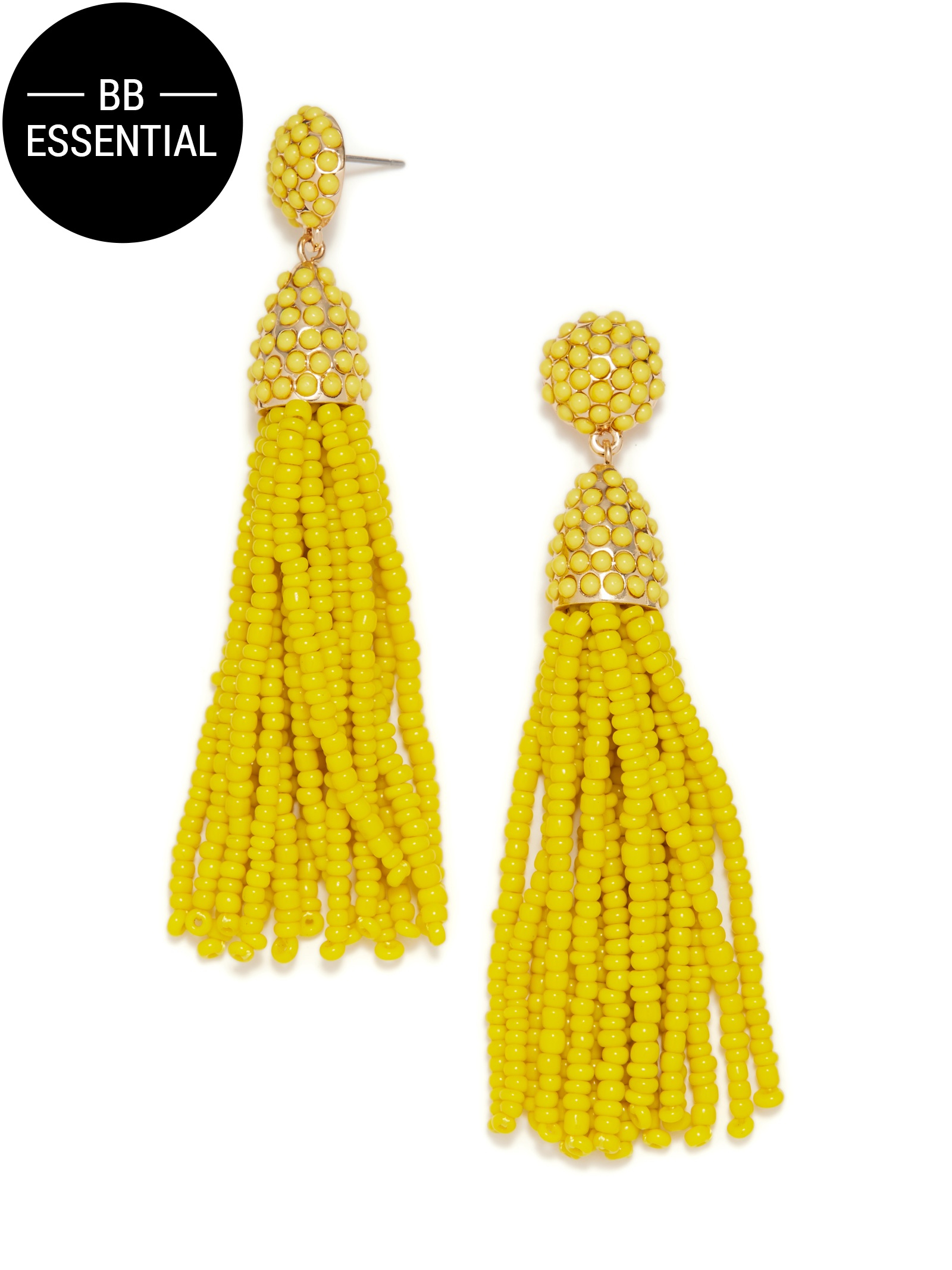 baublebar pi ata tassel earrings in yellow save 7 lyst. Black Bedroom Furniture Sets. Home Design Ideas
