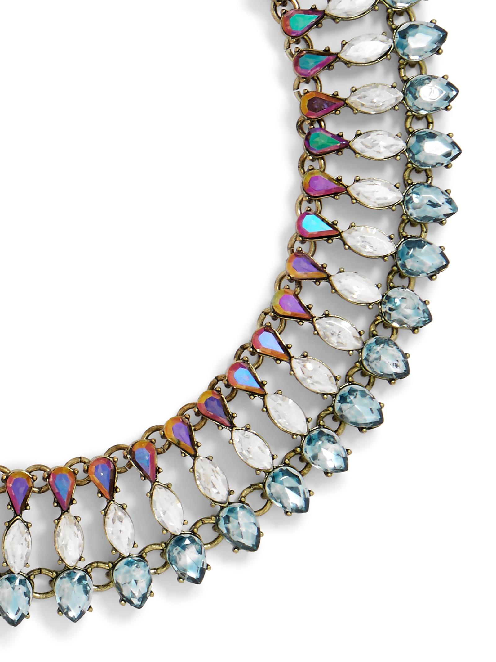baublebar sevanna crystal collar in blue