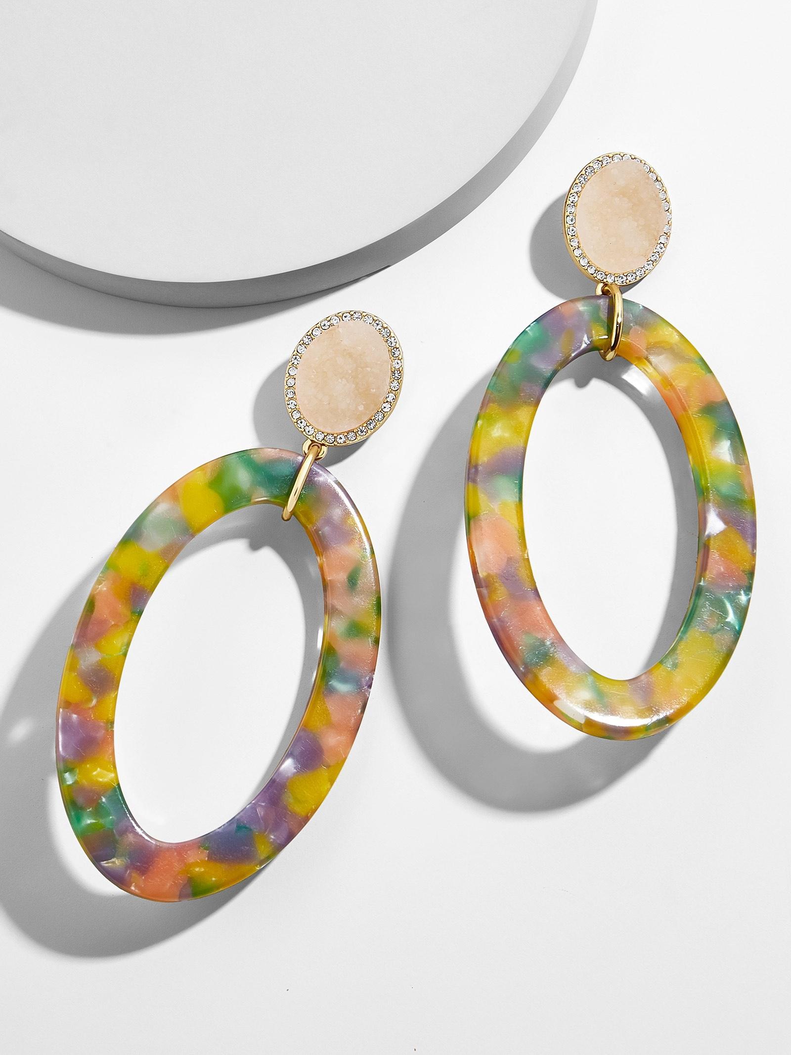 BaubleBar Triana Hoop Resin Earrings QTVsg