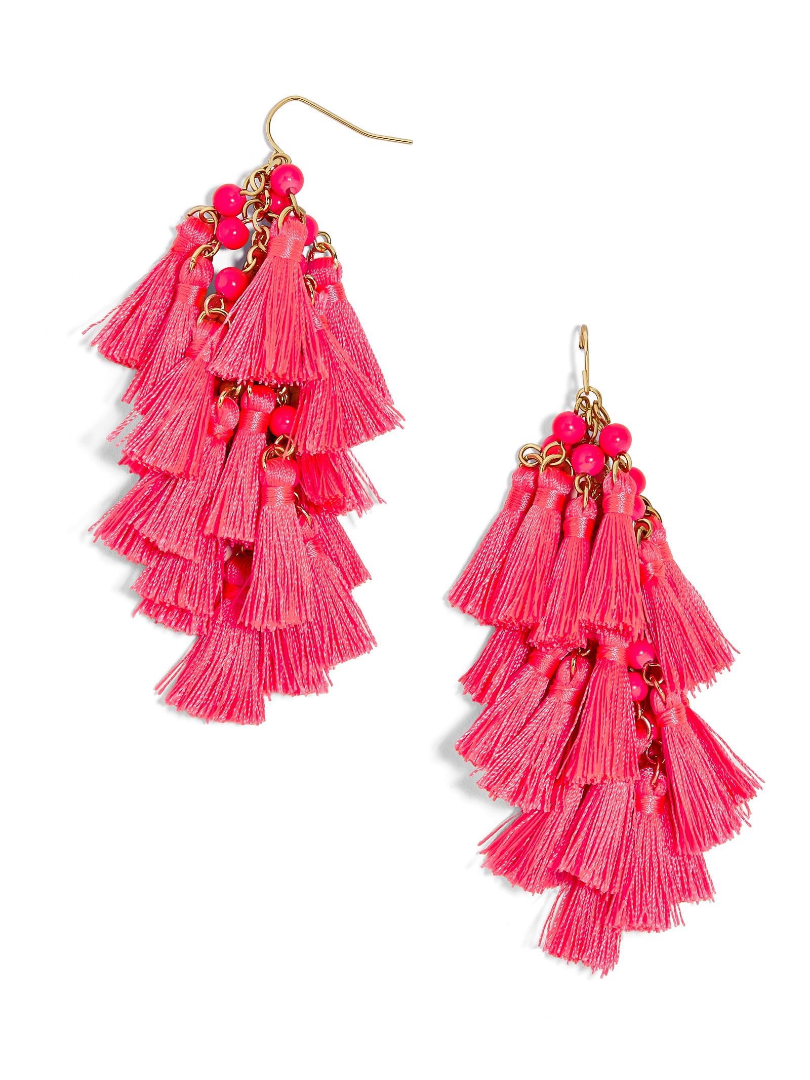Lyst Baublebar Rosalita Tassel Earrings In Pink