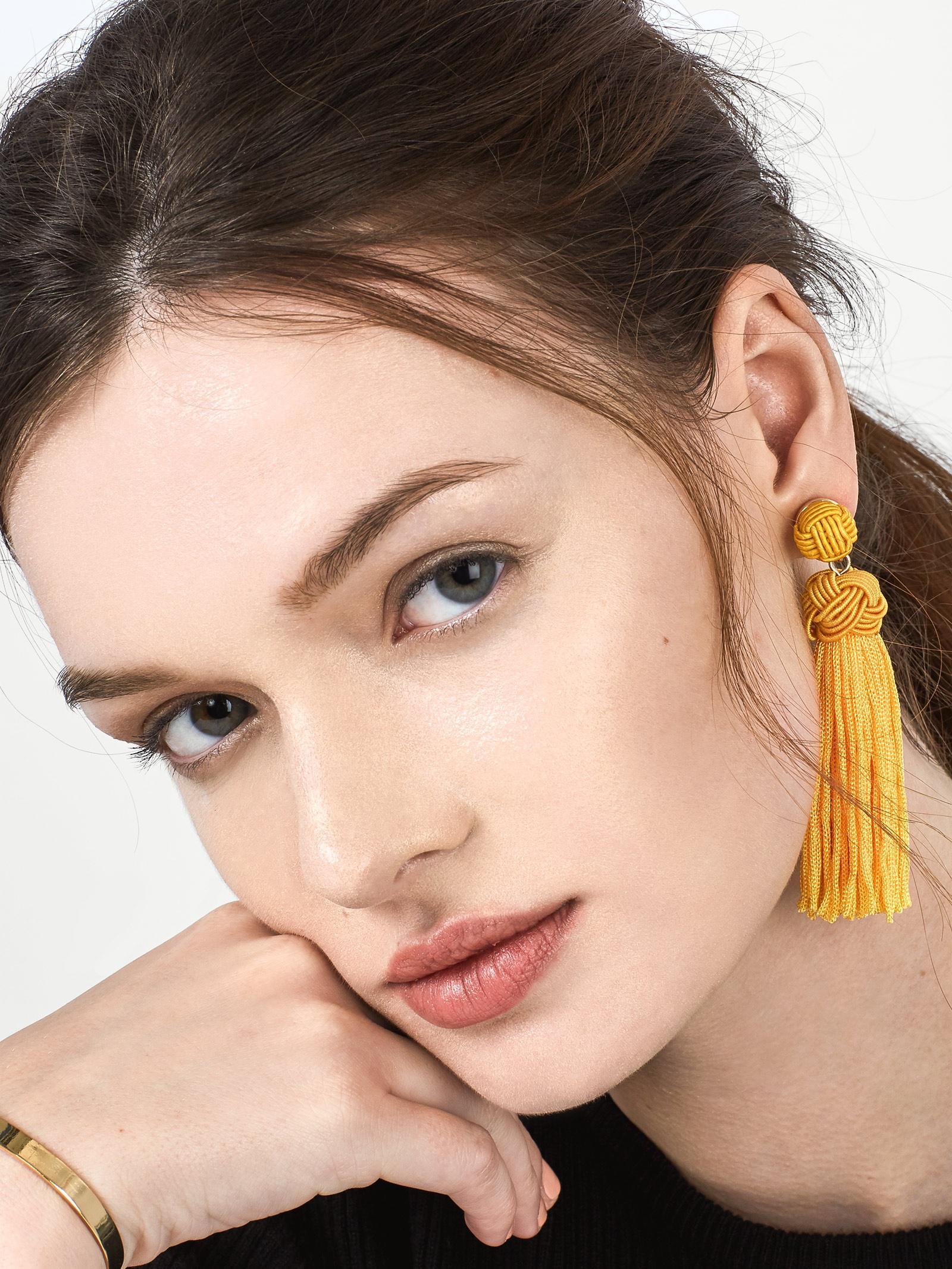 56ee1b5c1 BaubleBar Bree Tassel Earrings in Yellow - Lyst