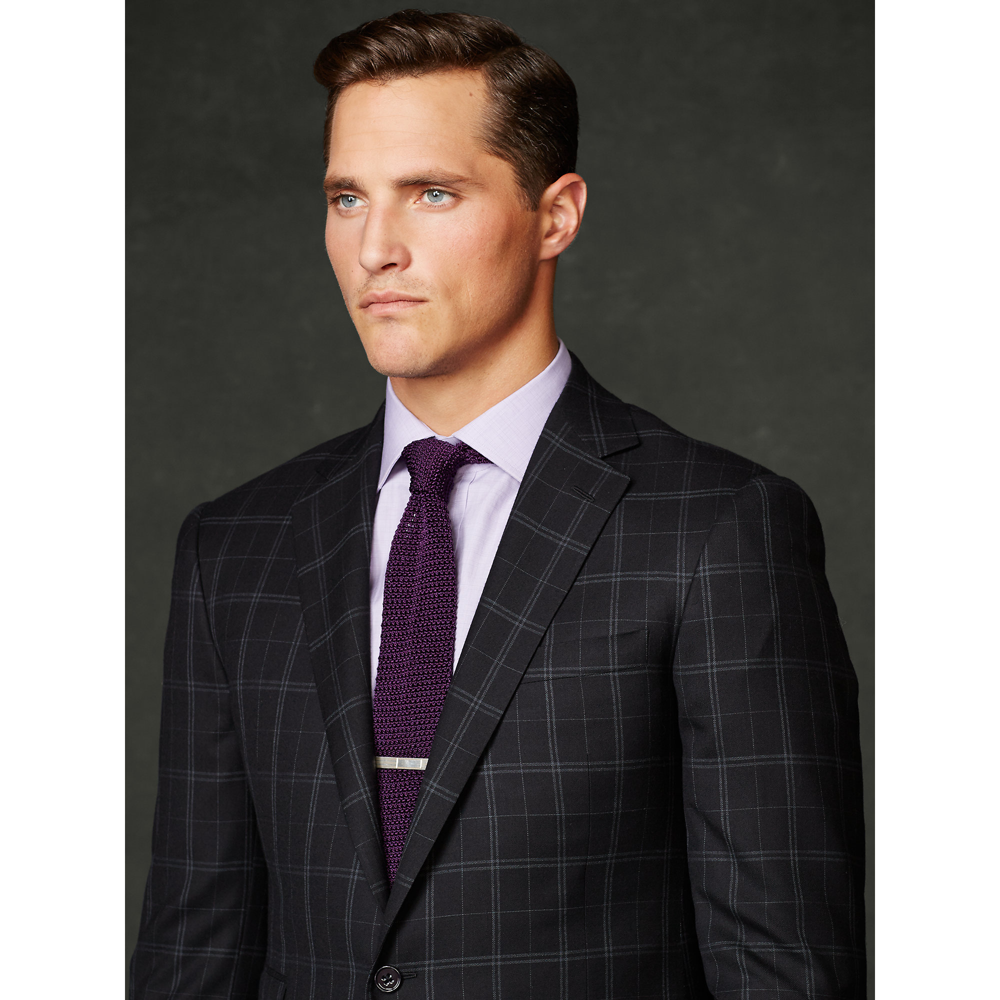 Ralph Lauren Purple Label Drake Windowpane Wool