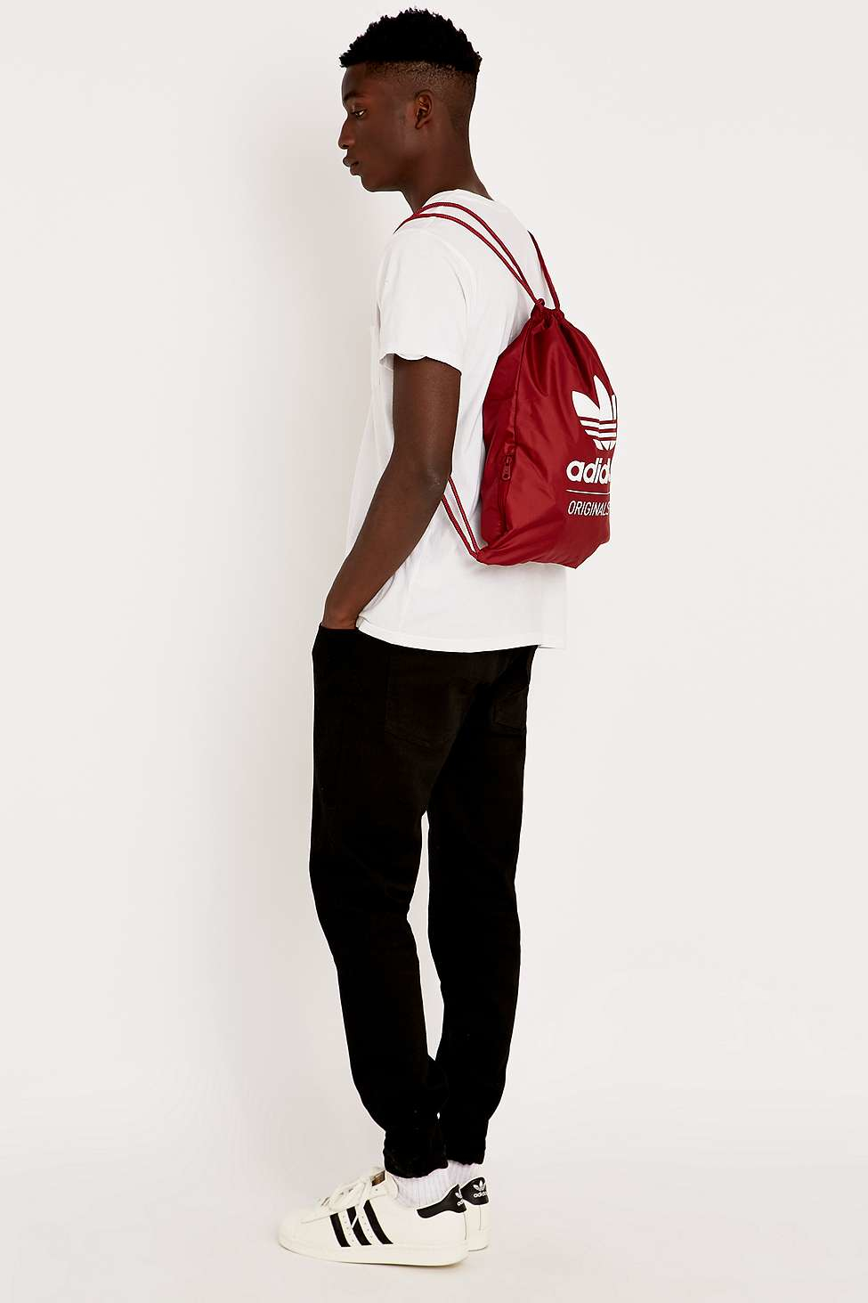 2e44571fff adidas Originals Drawstring Backpack in Brown for Men - Lyst