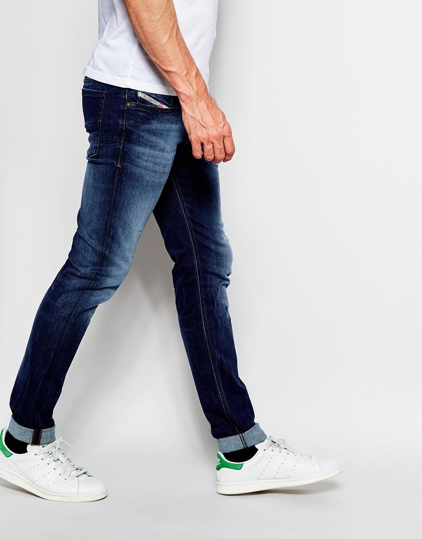 c3a521231bd DIESEL Jeans Sleenker 845s Skinny Fit Stretch Dark Wash - Dark Wash ...