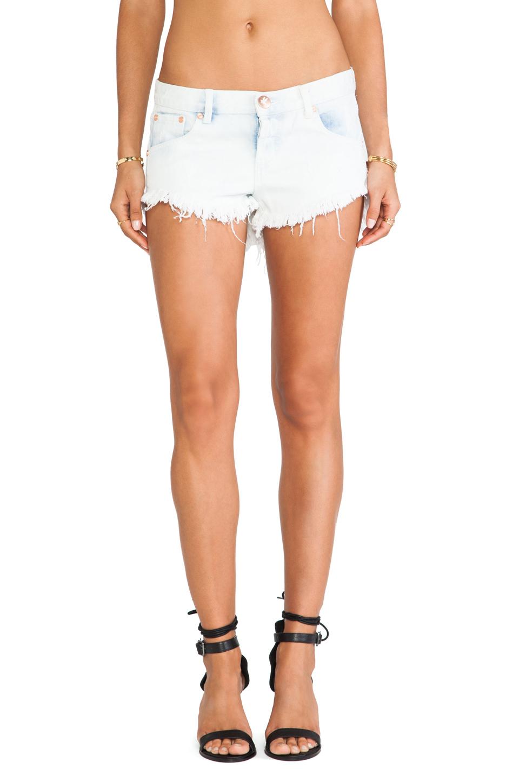 lyst one teaspoon bonita cut off shorts in white. Black Bedroom Furniture Sets. Home Design Ideas