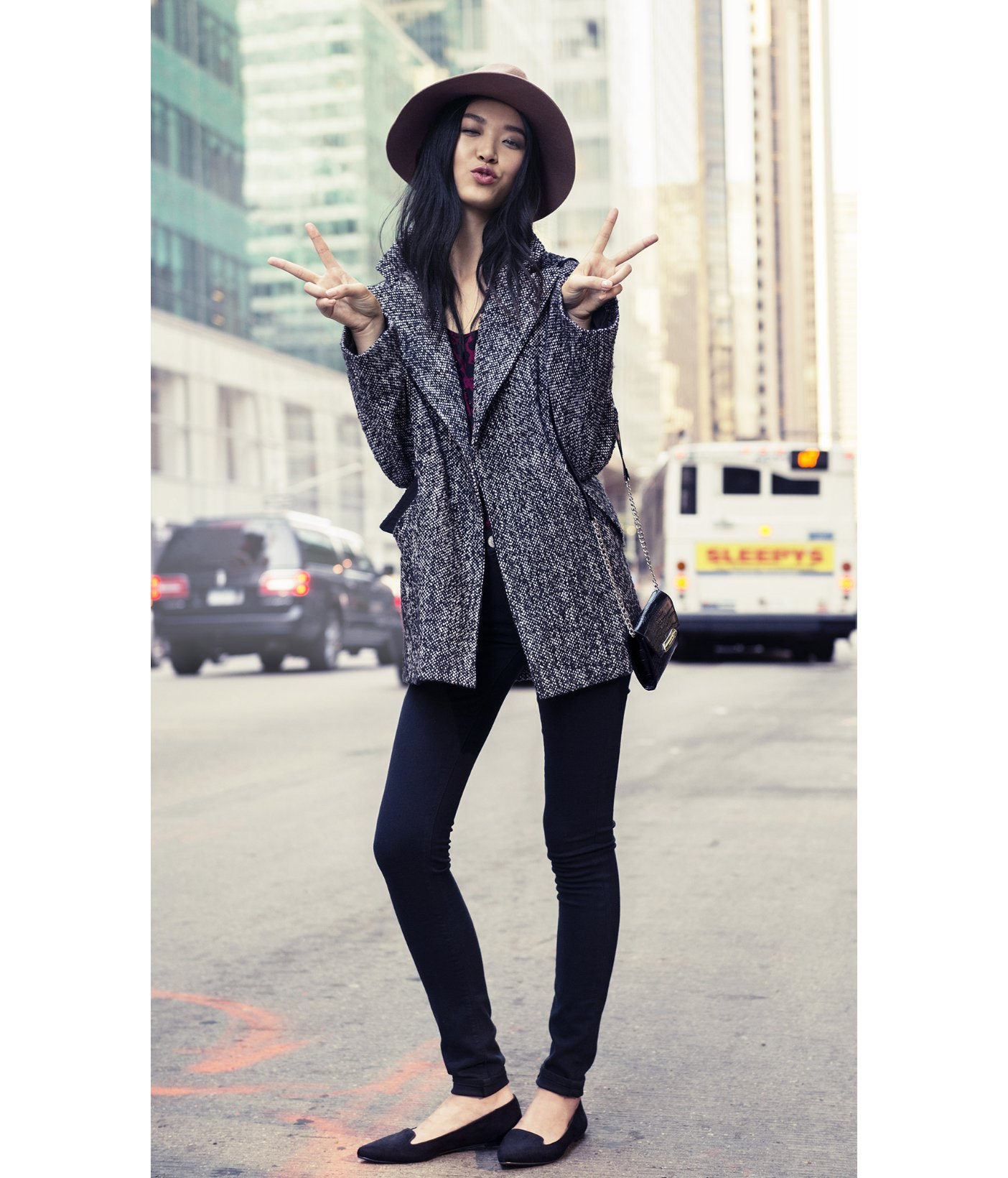 Lyst - Express Wool Felt Fedora Hat in Black 5fd9bbe876f