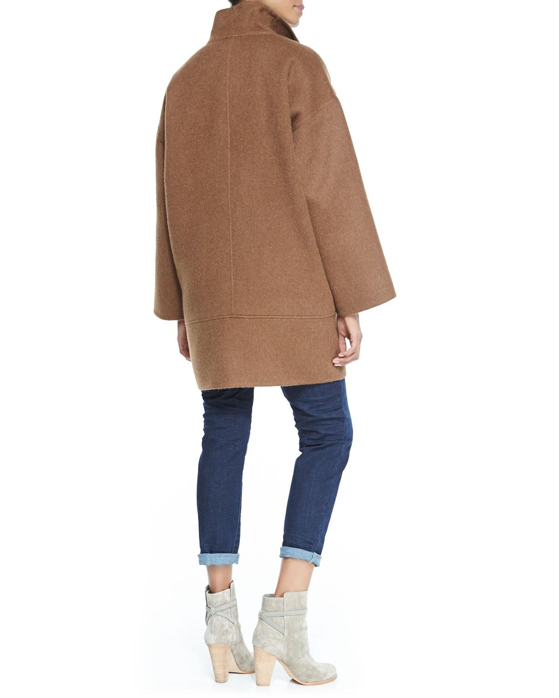 Eileen Fisher Doubleface Alpaca Cocoonshape Coat In Brown