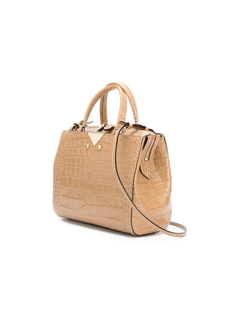 7f4c3e1a9d3c Lyst - Emporio Armani Crocodile Texture Tote Bag in Natural