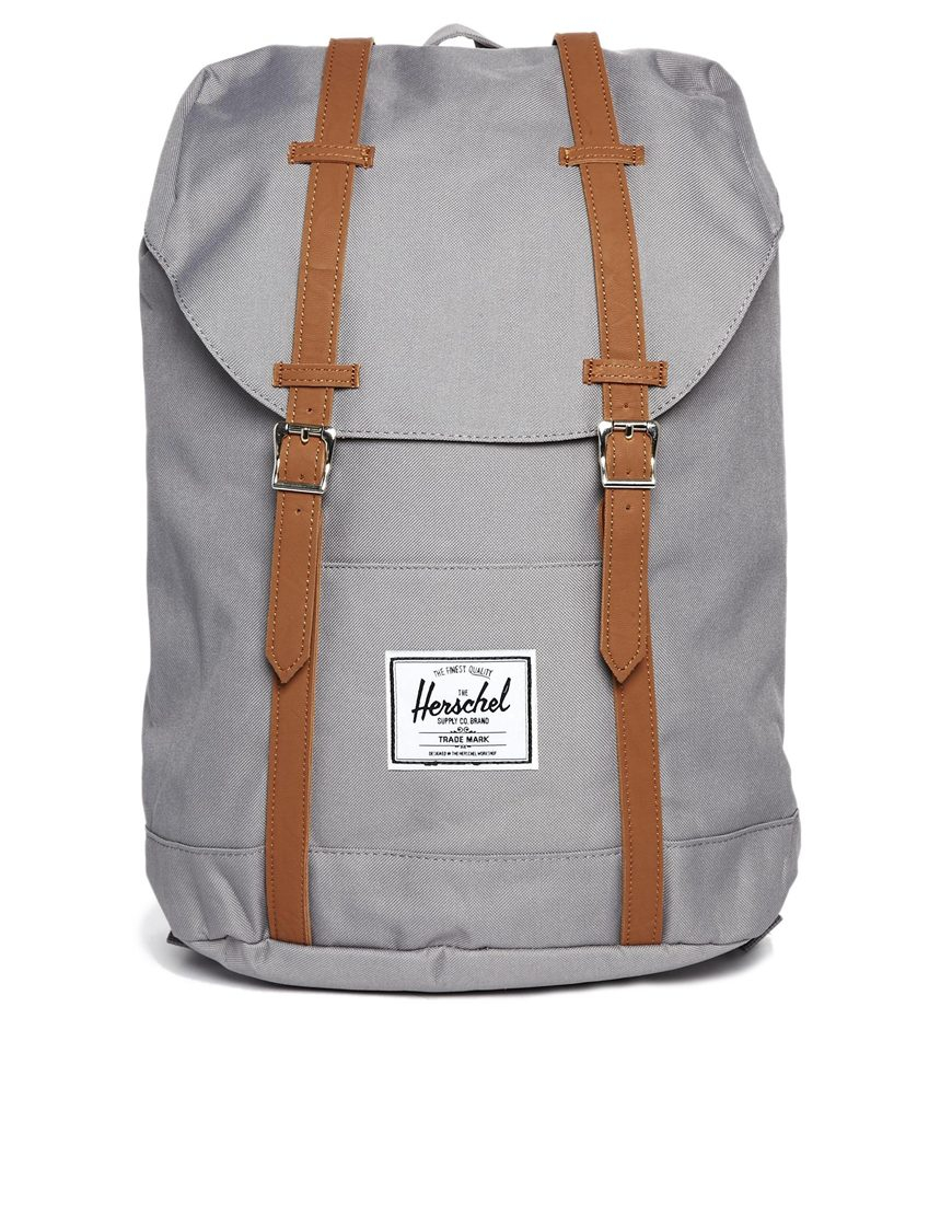 herschel supply co retreat backpack in gray grey lyst. Black Bedroom Furniture Sets. Home Design Ideas