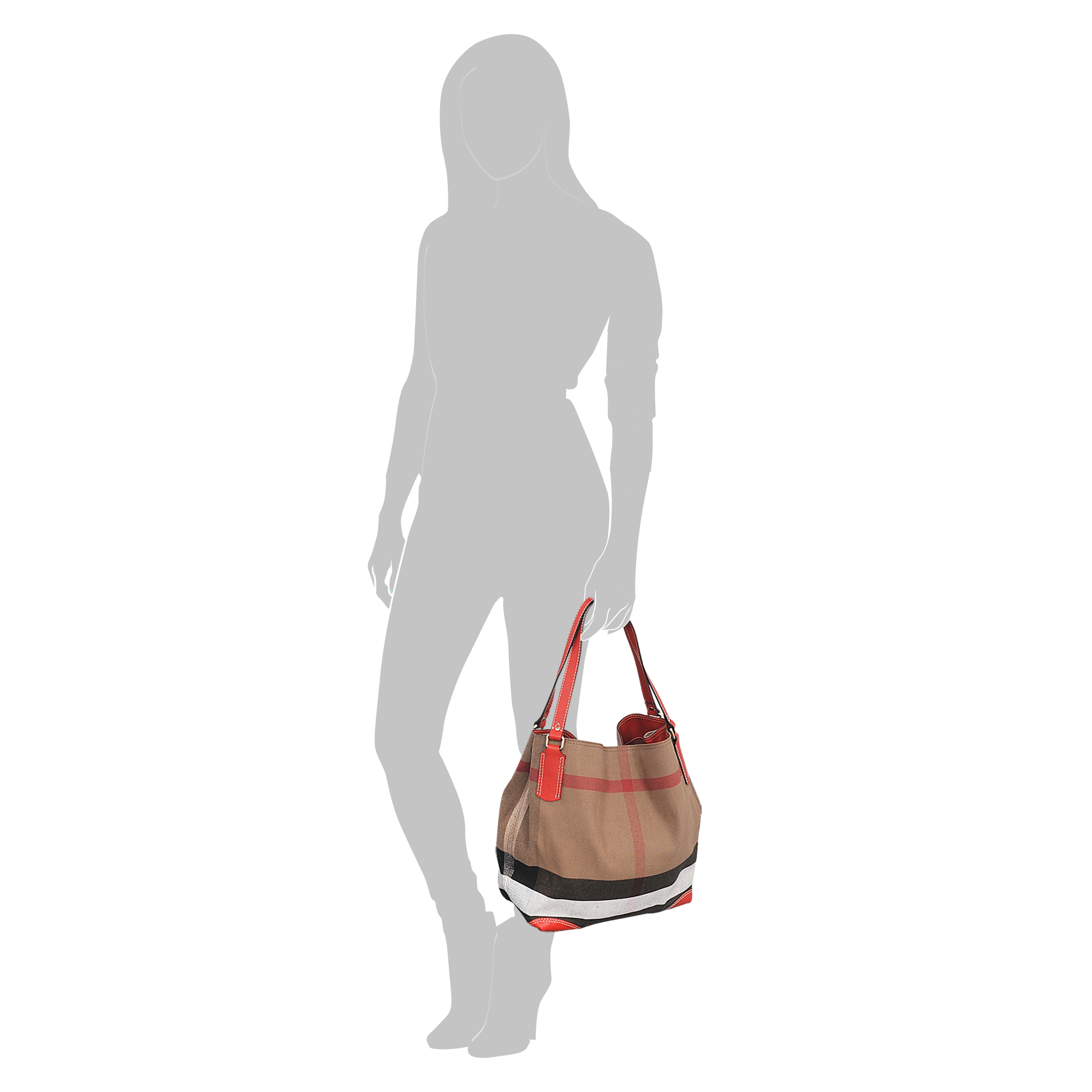 Burberry Sm Maidstone Brit Canvas Bag in Natural - Lyst ca602ca473311