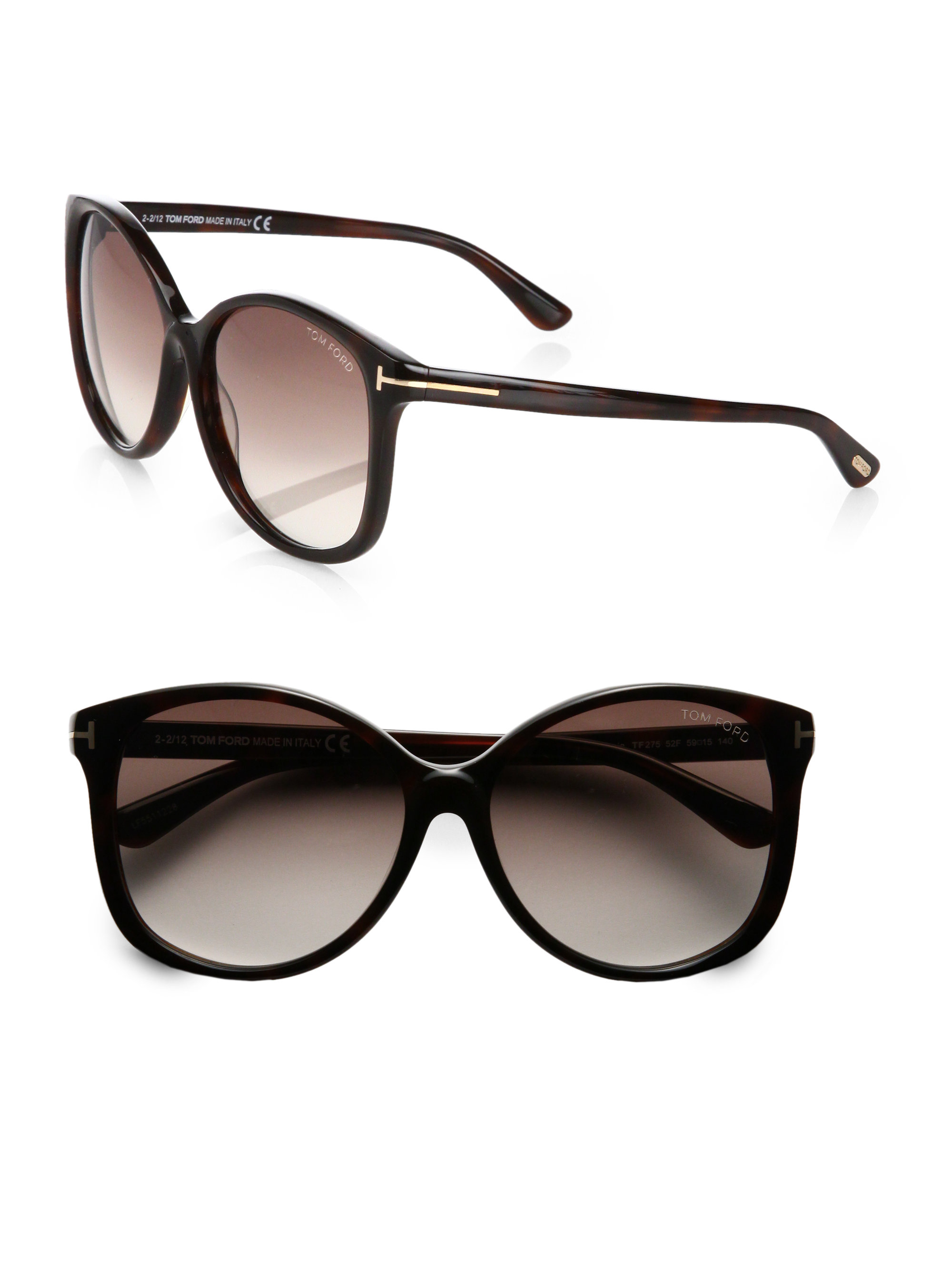 lyst tom ford alicia oversized round acetate sunglasses. Black Bedroom Furniture Sets. Home Design Ideas
