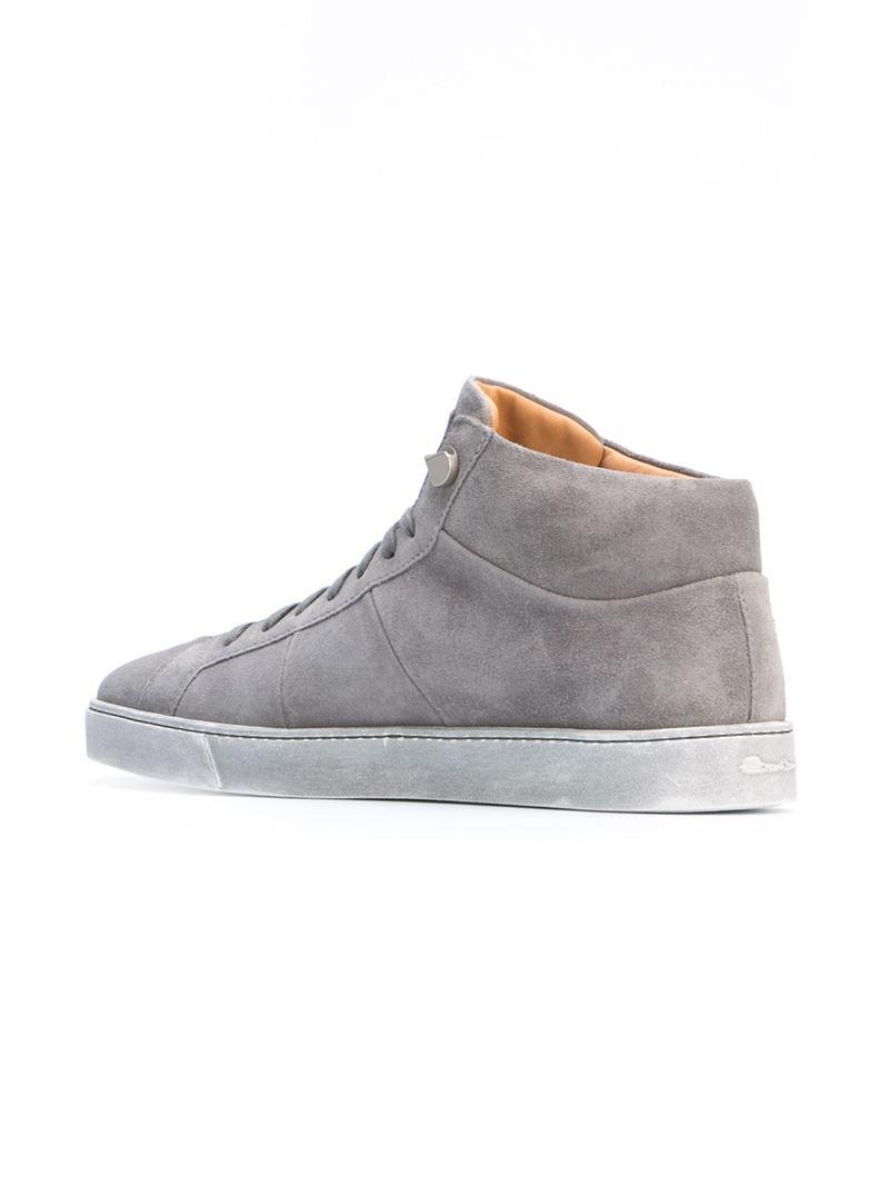 Hi top sneakers - Grey Santoni OFZBDoB8
