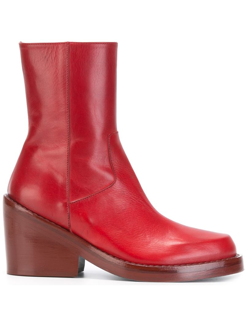 Ann Demeulemeester low heel boots best wholesale cheap price F6EjM39
