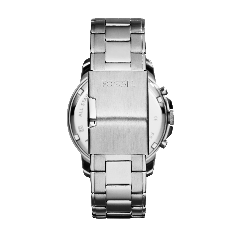 fossil fs4994 mens silver bracelet watch in metallic for men lyst gallery