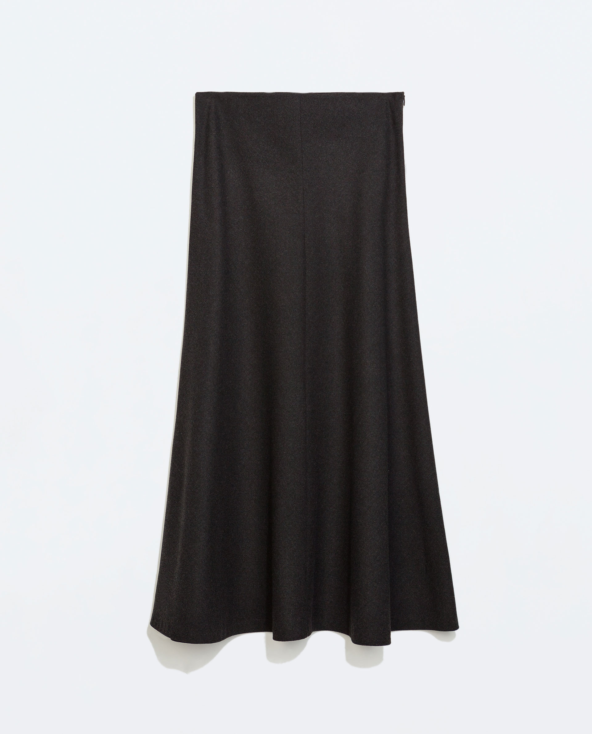 Zara Plain Long Skirt in Gray | Lyst