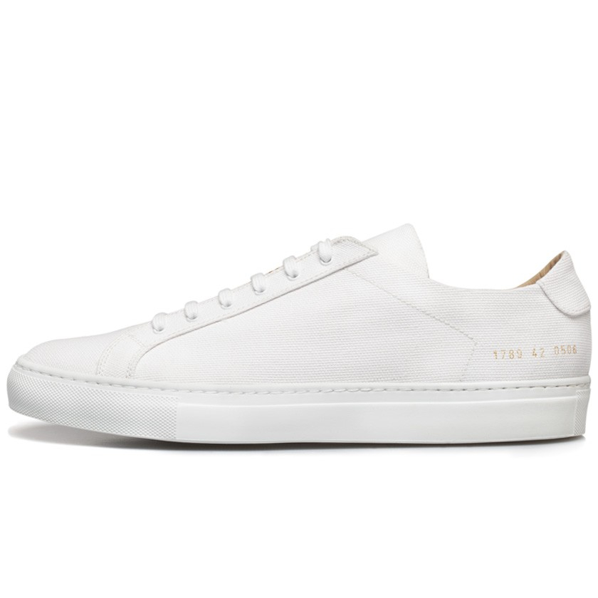 common projects white premium canvas achilles low sneakers in white for men lyst. Black Bedroom Furniture Sets. Home Design Ideas