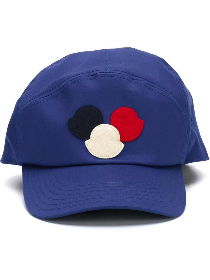 5c30723ba1a Moncler Logo Patch Cap in Blue for Men - Lyst