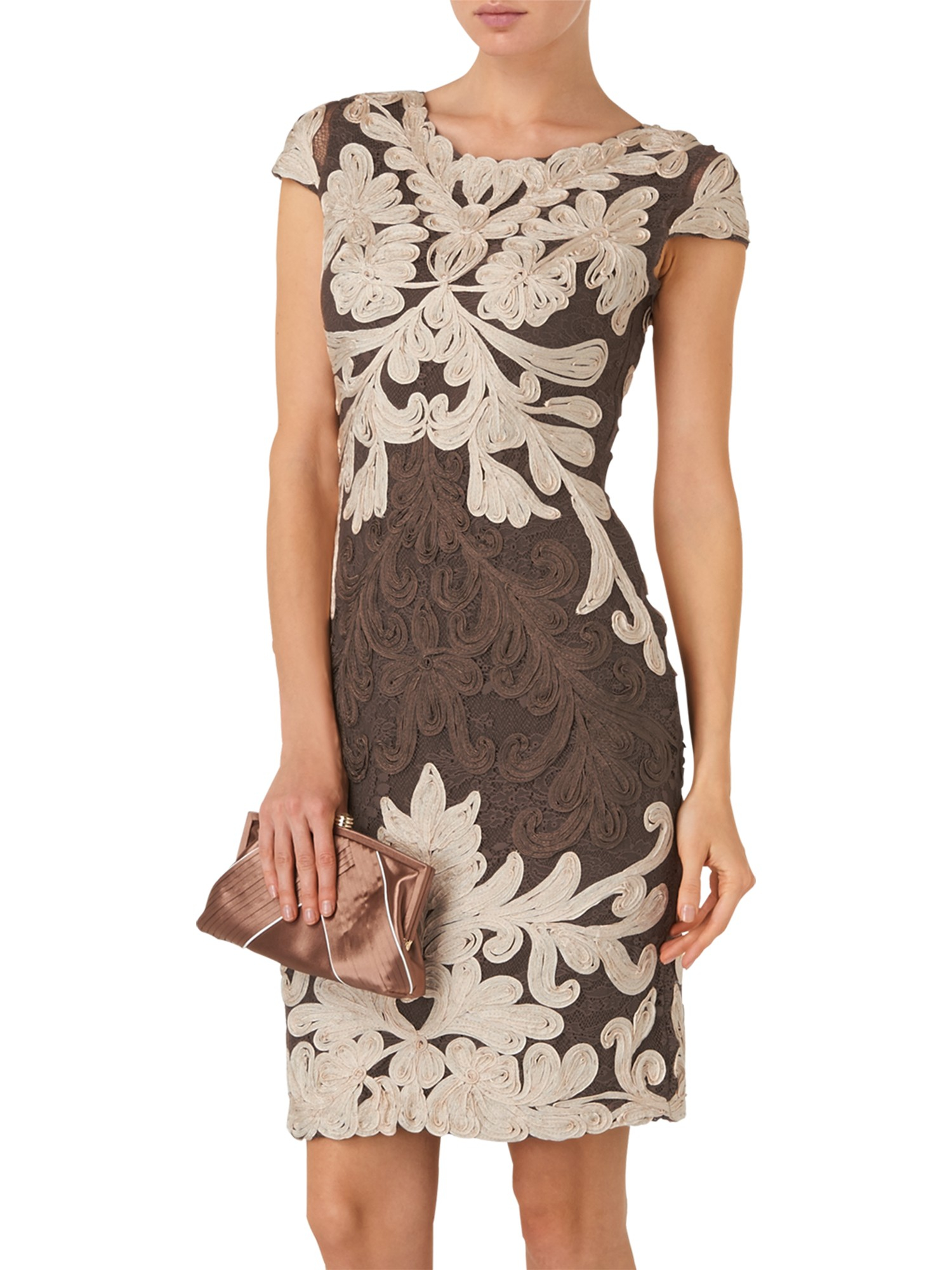 Phase Eight Venizia Tapework Dress in Brown - Lyst