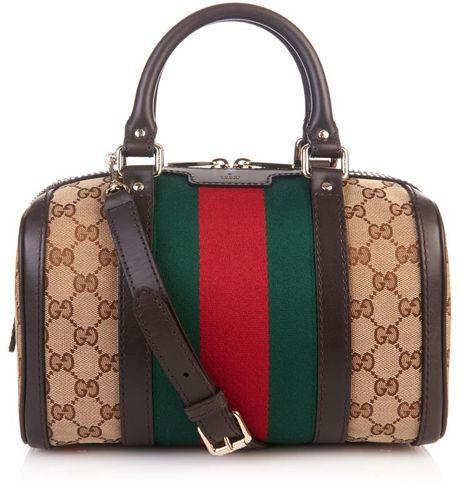 01689c3dfdad Gucci Vintage Web Original GG Canvas Tote Bag in Green (GREEN MULTI)