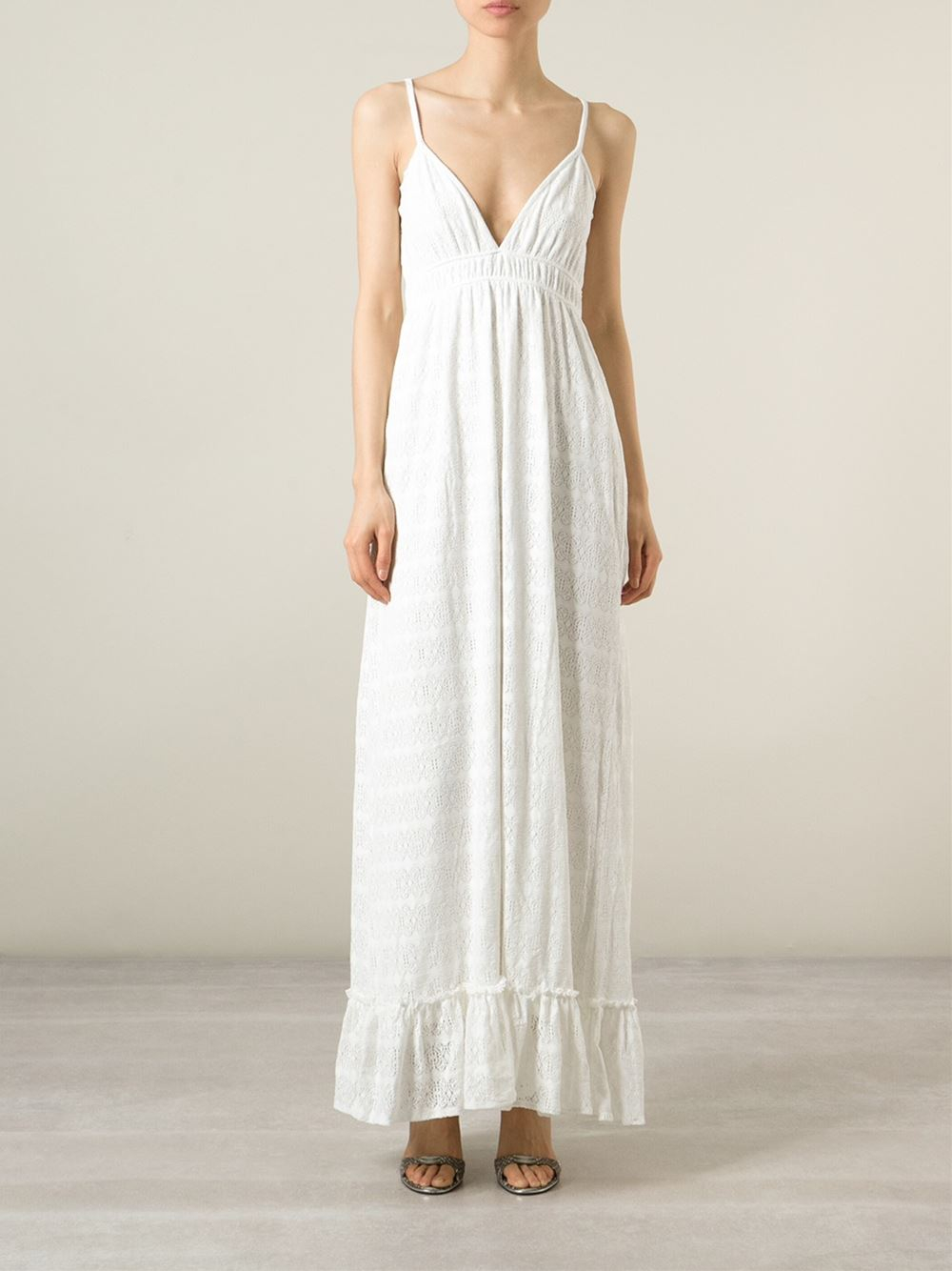 Melissa Odabash Woman Tara Fluted Crocheted Maxi Dress White Size S Melissa Odabash Manchester Online Outlet Limited Edition btN9w4a7Dp