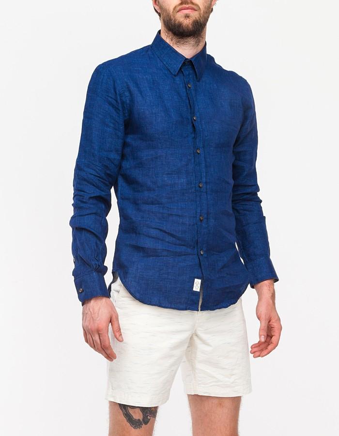 1d3629692c2c Todd Snyder Solid Blue Delave Linen Shirt in Blue for Men - Lyst