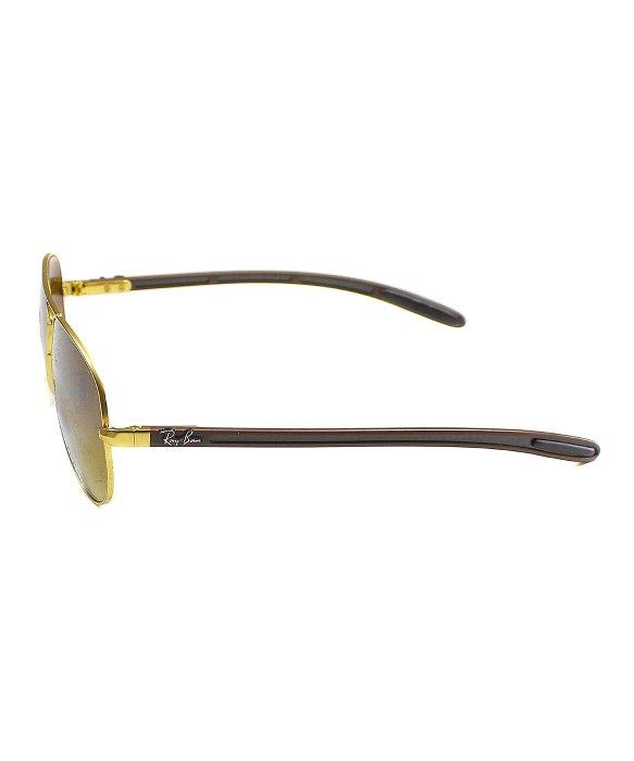52d0df1b43 Ray-Ban Rb 8307 112 85 Matte Gold Aviator Carbon Fibre Sunglasses ...