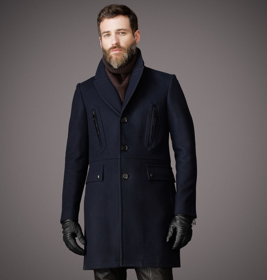 Belstaff Henlow Coat In Blue For Men Navy Lyst