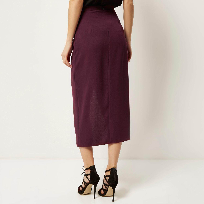 Dark Red Midi Skirt | Jill Dress