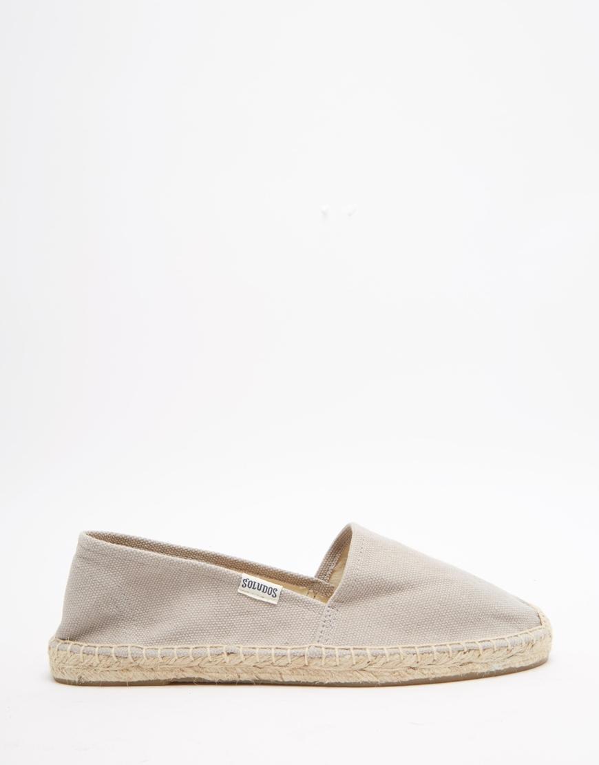 Lyst Lyst Lyst Original Dali Gray Espadrille Flat Canvas Sandals in Grey Soludos ra5wqr
