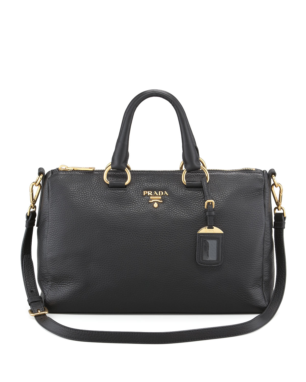 85e77f9b41cb21 Prada Vitello Daino East-West Tote Bag in Black - Lyst