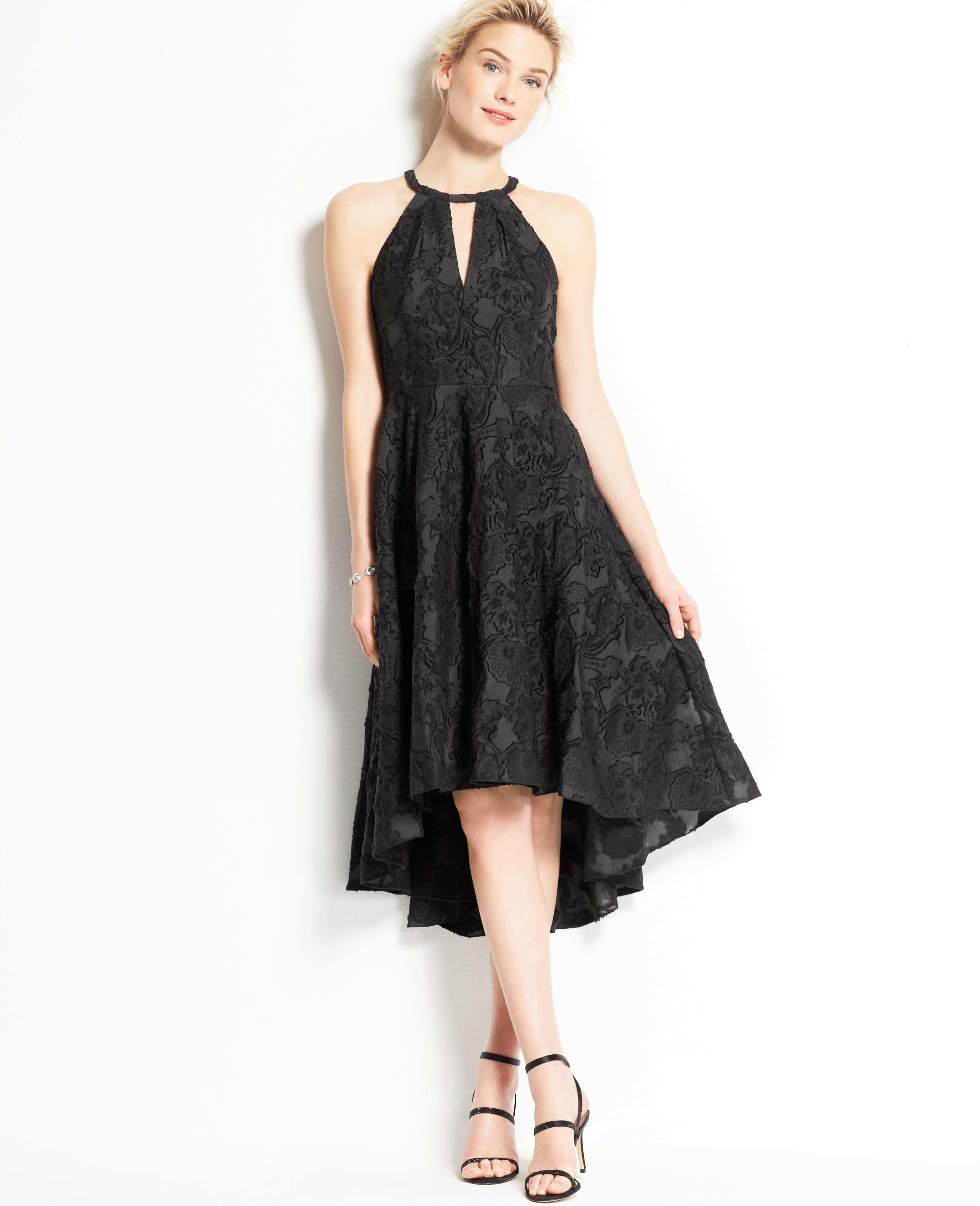 Black High Low Halter Dress,High Low Petite Dresses,