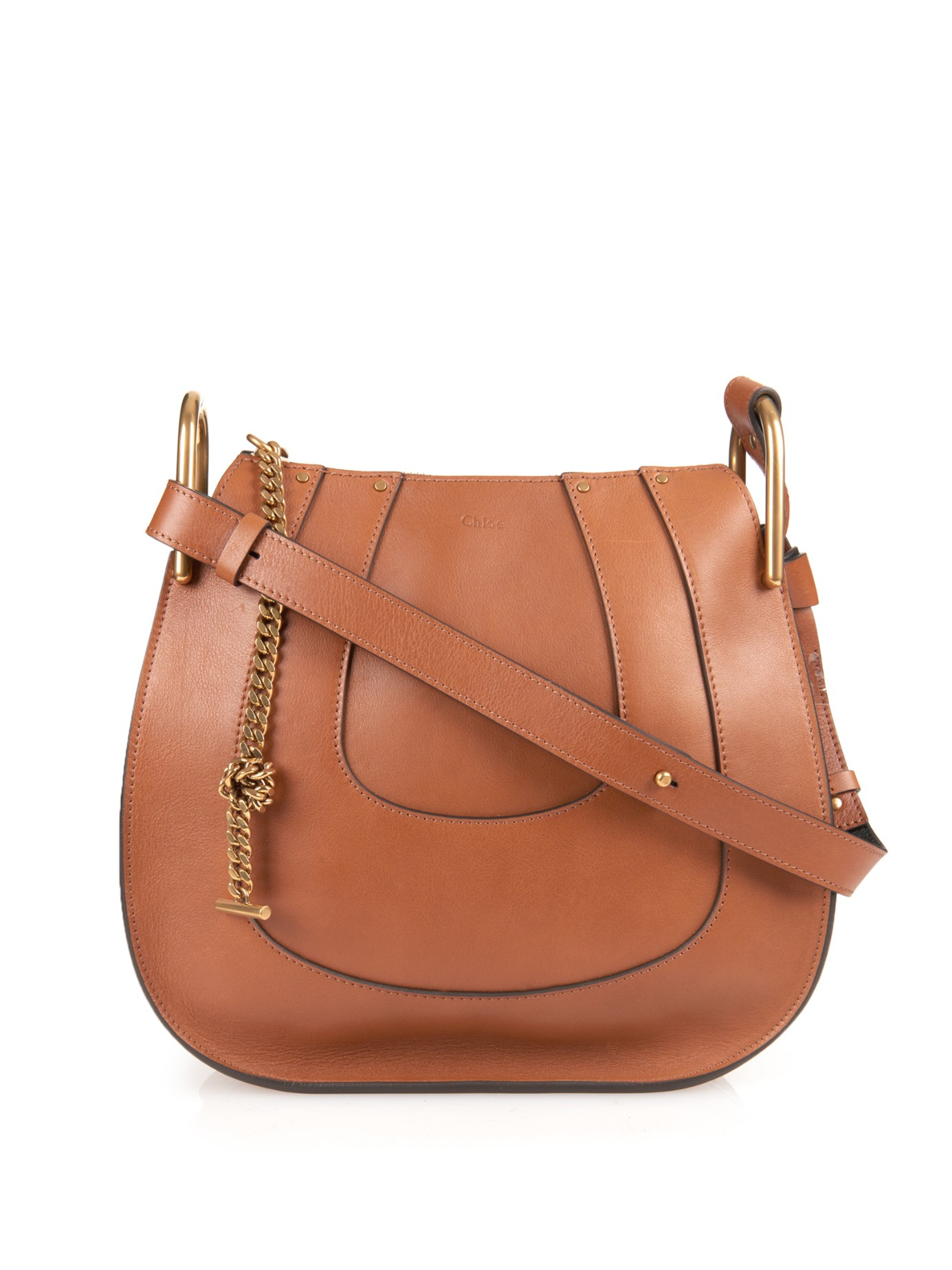 Chloé Hayley Hobo Leather Shoulder Bag in Brown | Lyst