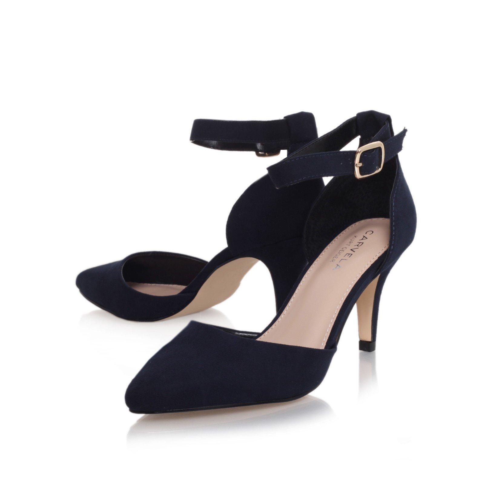 Carvela black strap heels size 41 - 1 part 6