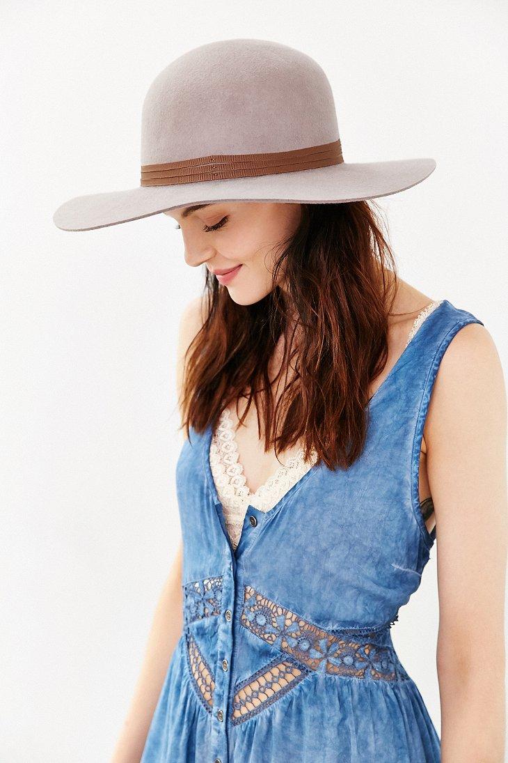Lyst - Brixton Magdalena Wool Hat in Natural 07e0da1192b5