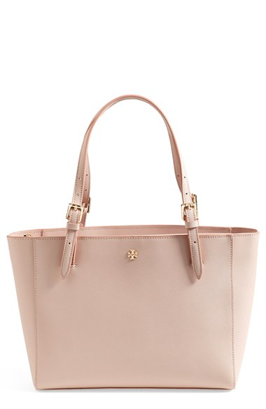 Tory Burch York Small Saffiano Leather Tote In Pink Lyst