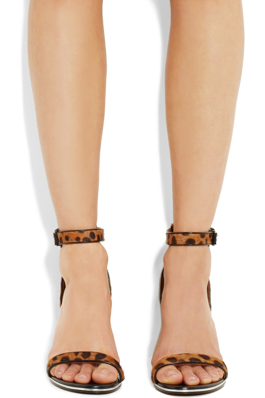 Lyst Givenchy Nadia Sandals In Leopard Print Calf Hair