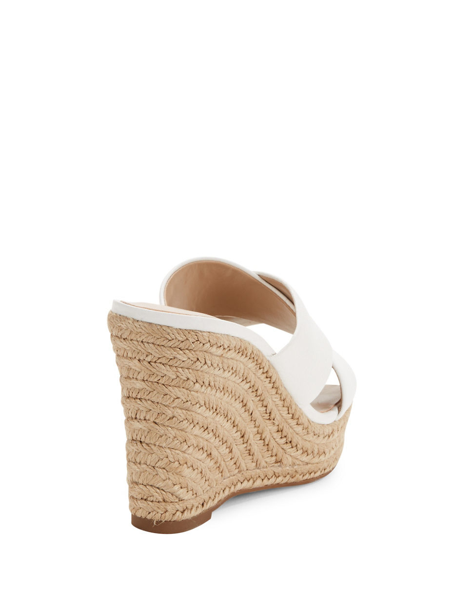 234c565e60d 424 Fifth - White Sadie Leather Crisscross Espadrille Wedge Sandals - Lyst