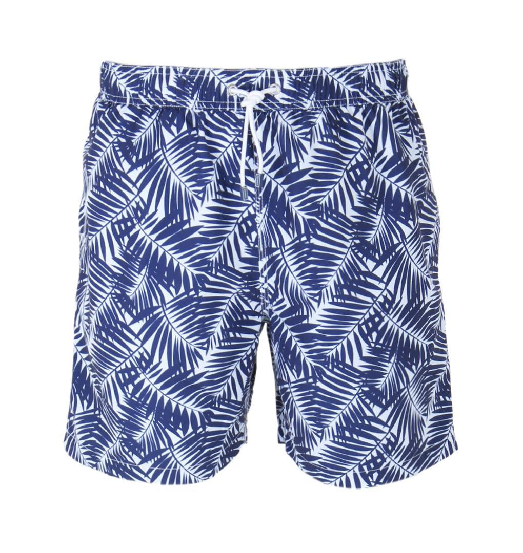 b2fae41927 Hackett Navy Palm Shadows Swim Short in Blue for Men - Save 50% - Lyst