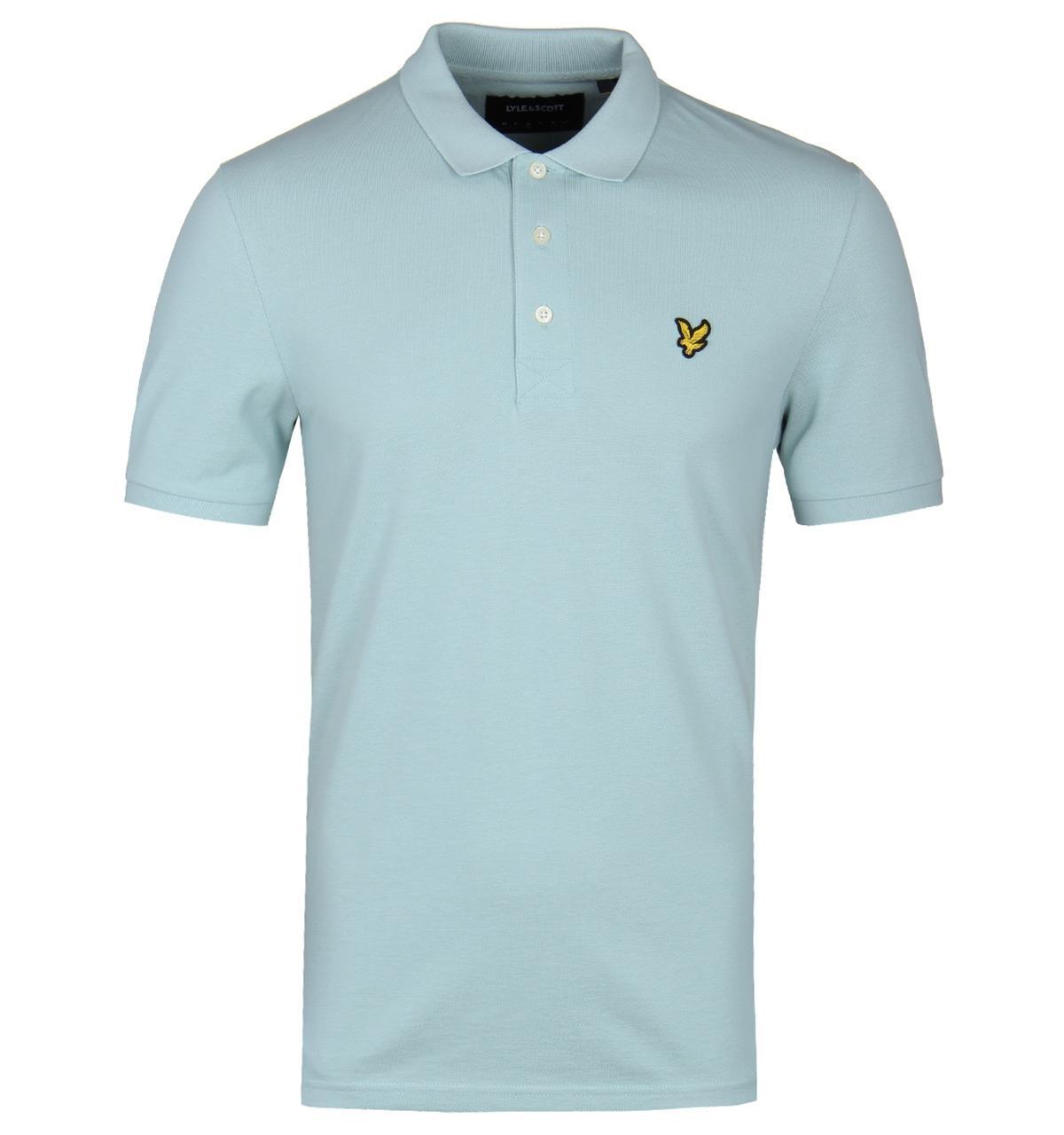 d3e7f2292ae Lyst - Lyle   Scott Powder Blue Short Sleeve Polo Shirt in Blue for Men