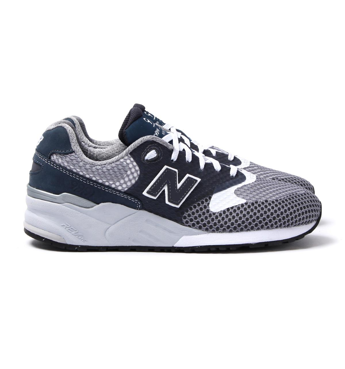 New Balance Synthetic 999 Navy & Grey Re engineered Mesh