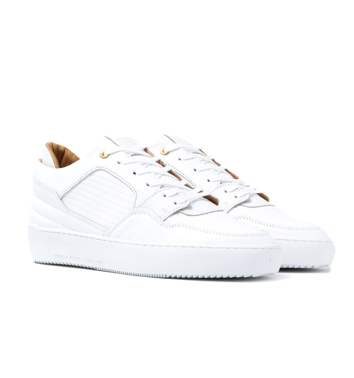 d666db315612 Android Homme White Leather Omega Low Trainers in White for Men - Lyst