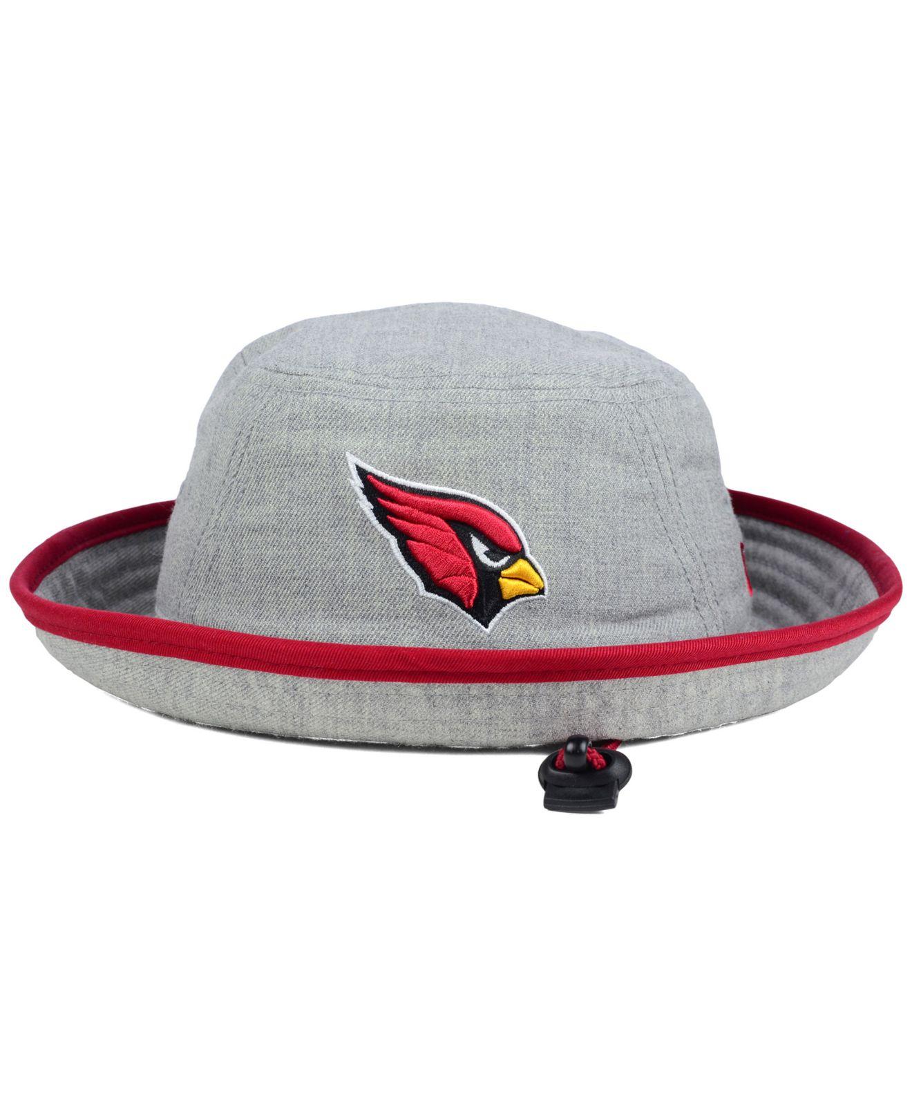 Lyst  Ktz Arizona Cardinals Nfl Heather Gray Bucket Hat in Gray for Men
